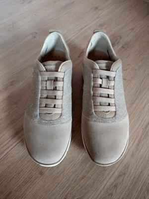Sneaker Schuhe beige taupe Nebula Glitzer Geox Neu