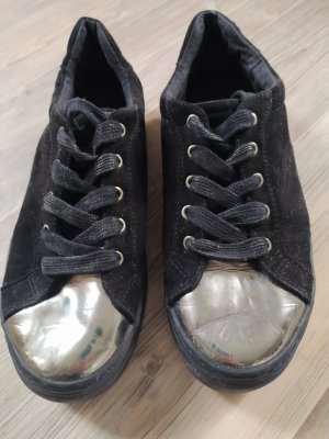 Star Collection Platform Trainers black-silver-colored