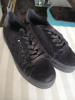 Sneaker schwarz mit Steinen