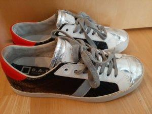 Sneaker schwarz/rot/silber von D.A.T.E. Gr. 38