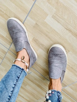 Sneaker Slipper metallic Silber Snake Dockers 36