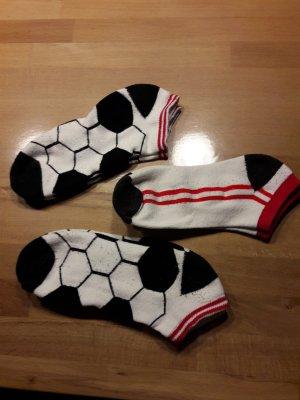 Pantoufles-chaussette blanc-noir
