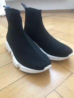 Billi Bi Sneaker slip-on nero-bianco Tessuto misto