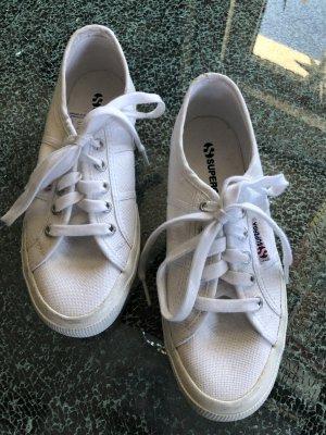 Superga Sneaker stringata bianco Lino