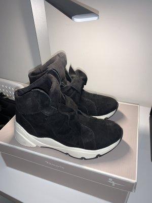 Terranova Sneaker con tacco nero-bianco