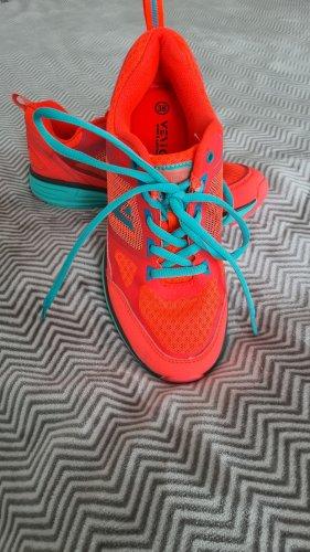 -8- Venice Basket à lacet orange fluo-turquoise