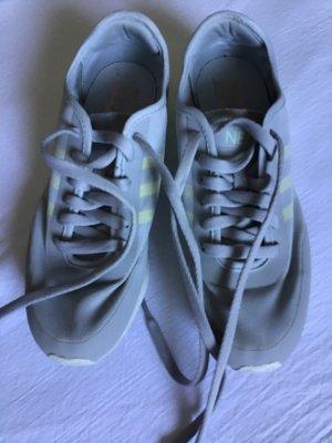 Adidas NEO Sznurowane trampki jasnoszary-żółty neonowy