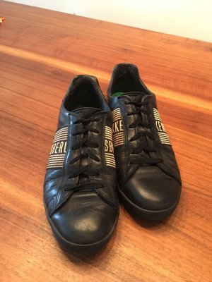 Bikkembergs Lace-Up Sneaker black leather