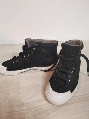 Calvin Klein Sneakers met veters zwart-wit Katoen