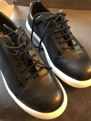 Camper Lace-Up Sneaker black-white leather