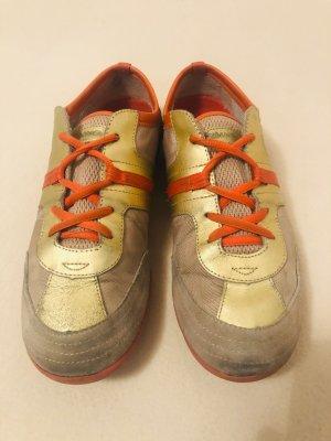 Sneaker von MANGO, Gr. 38, gold, orange