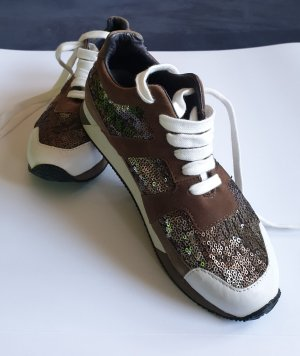 Marc Cain Lace-Up Sneaker brown-white