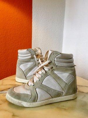 BDG Sneakers met hak lichtgrijs-wit