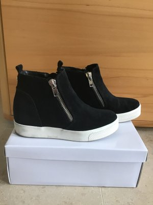 Steve Madden Wedge Sneaker black-white leather