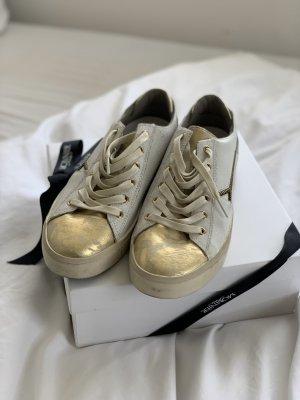 Sneaker Weiss Gold