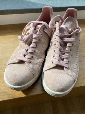 adidas stan smith Basket à lacet or rose