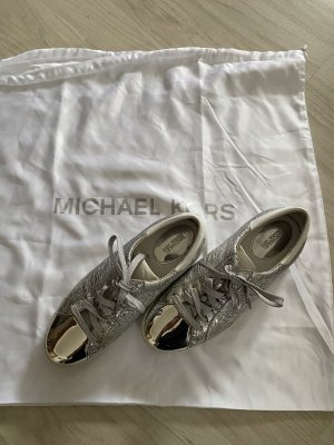 Michael Kors Sneakers met veters wit-zilver