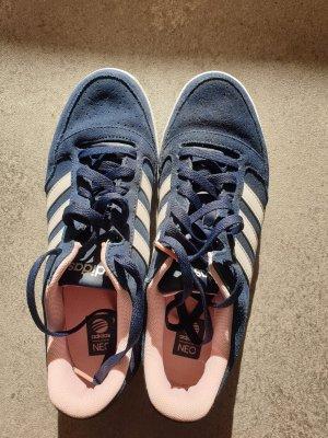 Adidas NEO Sznurowane trampki jasny różowy-ciemnoniebieski