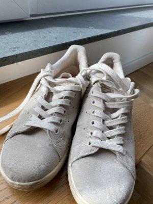 adidas stan smith Basket à lacet beige clair