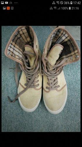 Chaussure skate bronze-beige