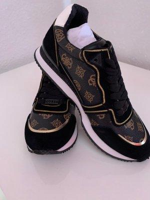 Guess Sneakers met veters zwart