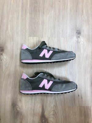 Sneakers NEW BALANCE KL410DPY Grau Rosa 37,5 wunderschön Echtleder Textil