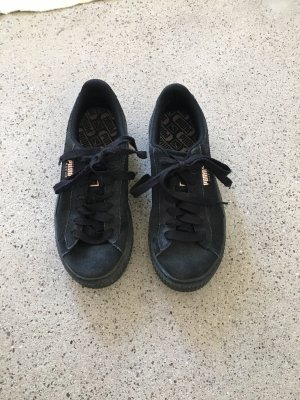 Sneakers Puma suede schwarz G 38 Leder