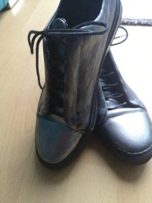 sneakers silbermetallik