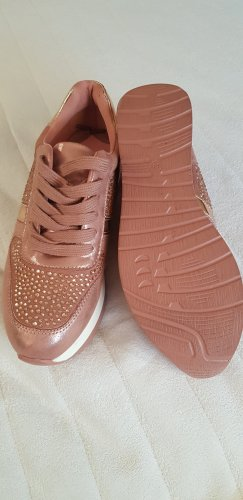100% Fashion Lace-Up Sneaker cognac-coloured