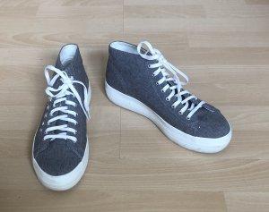 Vagabond Sneaker con zeppa grigio-bianco
