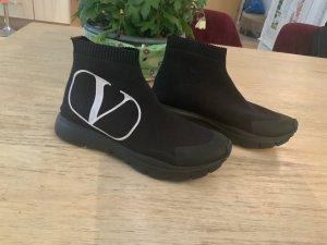 Valentino Sneaker slip-on nero-bianco Tessuto misto