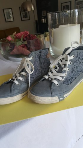 Mustang Shoes Basket à lacet gris ardoise