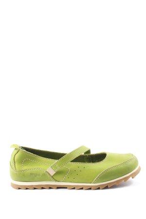 Snipe Mary Jane Halbschuhe grün Casual-Look