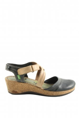 Snipe Wedge Sandals brown-black casual look