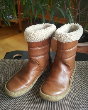 Snipe Short Boots brown-natural white leather
