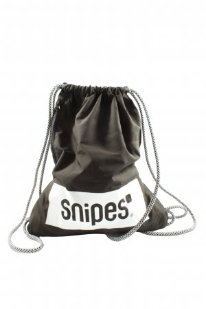Snipes Buideltas zwart-wit gedrukte letters casual uitstraling