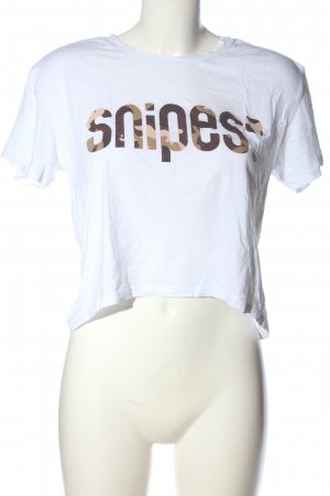 Snipes Print Shirt white-brown camouflage pattern casual look
