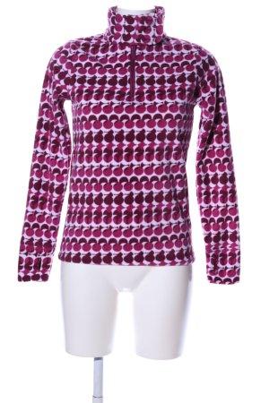 Sno Base Fleecepullover abstraktes Muster Casual-Look