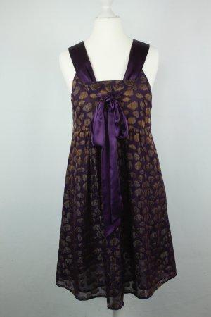 Snob Kleid Seidenkleid Gr. S lila gold