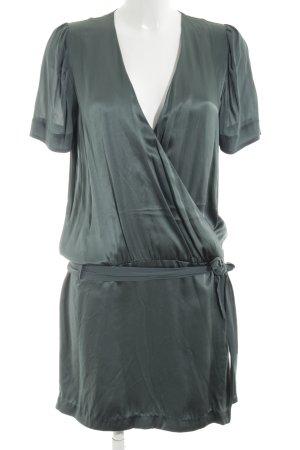 Snob Wraparound green elegant silk