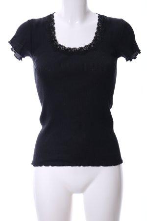 Snob Camisa acanalada negro look casual