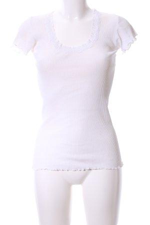 Snob Camisa acanalada blanco look casual