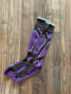 Ocieplacz na nogi ciemny fiolet-ciemnobrązowy
