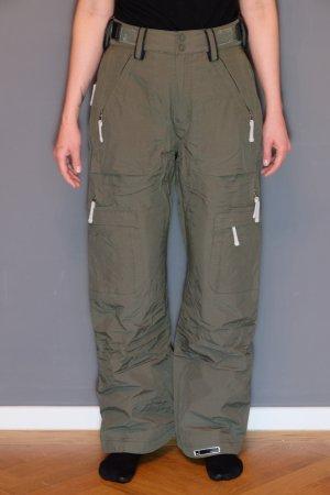 Pantalón de esquí gris verdoso