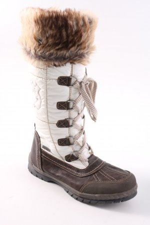 Botas de nieve blanco-marrón estilo «business»