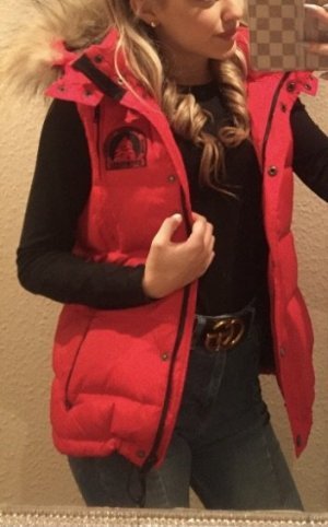 snowmass Down Vest red