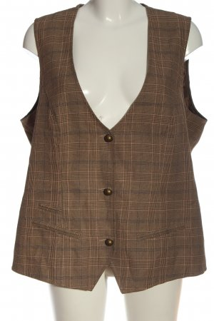 So bin ich Waistcoat brown check pattern casual look