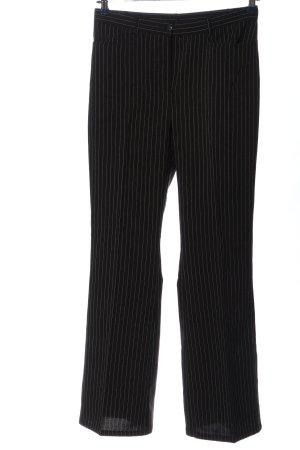 So bin ich High-Waist Hose schwarz-weiß Streifenmuster Casual-Look