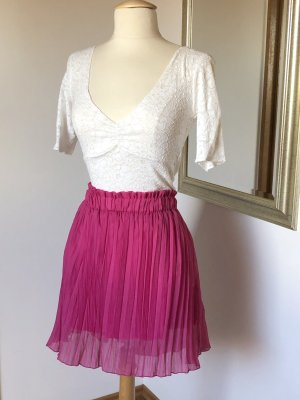 SO NICE Pleated Skirt pink-pink viscose