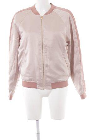 Soaked in luxury Bomberjacke altrosa-rosa Motivdruck Glanz-Optik